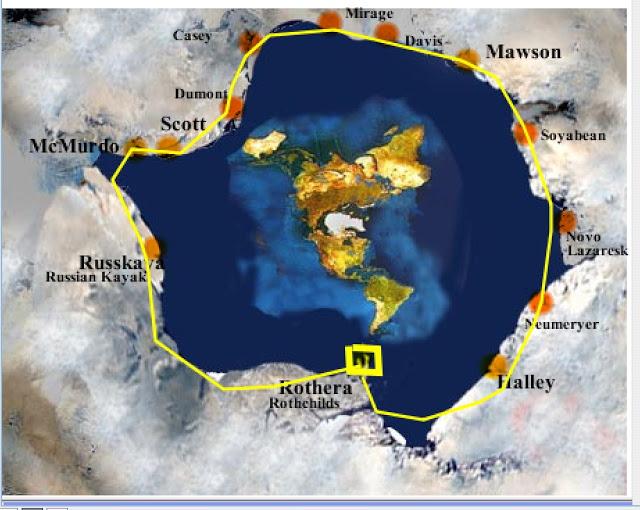 Antarctica, Flat Earth